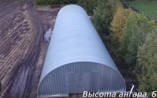 Обзор бескаркасного ангара в с.Троицкое, Омский район